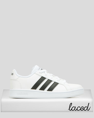 adidas Boys Grand Court Sneakers White