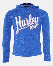 Hurley HRLB Cloud Slub Pullover Hoodie Racer Blue
