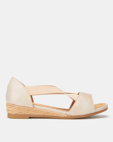 Butterfly Feet Zia Wedges Rose Gold
