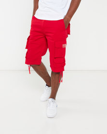 Cutty Cotton Cargo Shorts Red Mortar