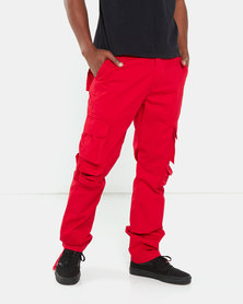 Cutty Tank Cargo Trousers Red