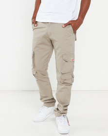 Cutty Tank Cargo Trousers Stone