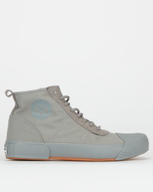 Superga Canvas Logo Boots Grey/Sage Gum