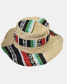 SKA Hemp Ghari Sunhat Red and Green