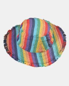SKA Hemp Ghari Sunhat Rainbow