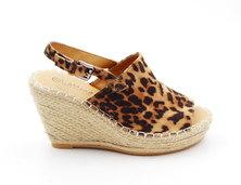 LaMara Paris Amber leopard print suede wedge sandals