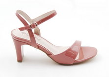 Park Lane patent strappy sandals salmon pink