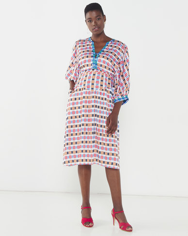 African Style Story Muda Dress Red