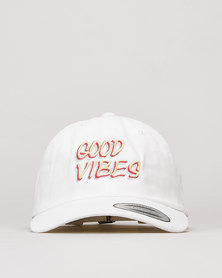 FLEXFIT Good Vibes Peak Cap White