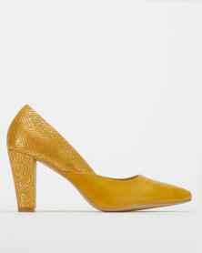 Urban Zone Herringbone Heeled Court Mustard