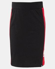 ECKÓ Unltd Girls Panelled Skirt Black/Red