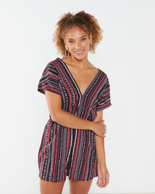 Utopia Striped Tunic Playsuit Multi