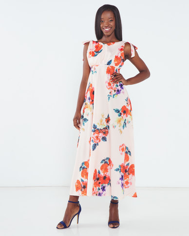 Utopia Based Floral Maxi Dress Pink