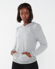 Hurley Chill Fleece Crop Pullover Grey