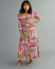 Bela Moca Boutique Tropical Peach Dress