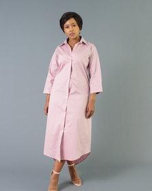 Bela Moca Boutique Dusty Pink Shirt Dress