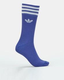 adidas Originals Solid Crew Socks Purple Multi
