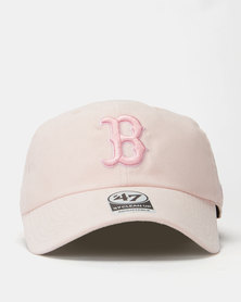 47 Brand Red Sox Ultra Basic Clean Up Cap Pink