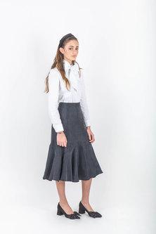 Sarah Feldman Naarah Bow Shirt White
