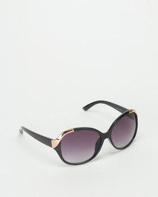 Queenspark Twist Sunglasses Black Gold