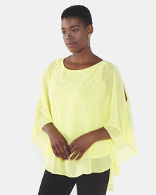 Queenspark Floaty Glam Woven Blouse Yellow