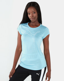 Puma Sportstyle Core Active Logo Heather Tee Milky Blue