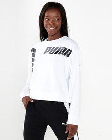 Puma Sportstyle Core Modern Sport Crew Sweat Puma White