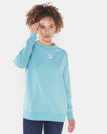 Puma Sportstyle Prime Classics T7 Crew Sweatshirt Milky Blue