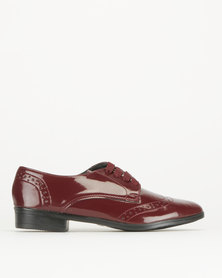 Legit Brogue Lace Up Burgundy