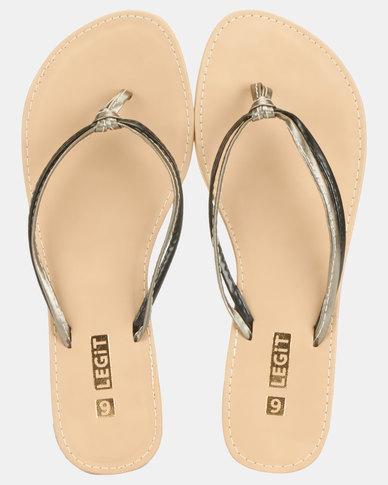 Legit Multi-Strap Thong Sandals Black