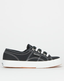 Superga Contrast Canvas Sneakers Black Lochness