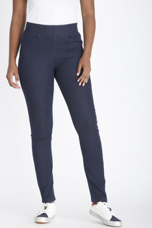 Contempo Pull Up Jeggings Indigo