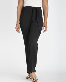 Contempo Scuba Crepe Pants Black