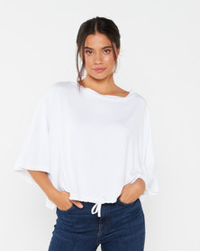 Utopia Slouchy Knit Top White