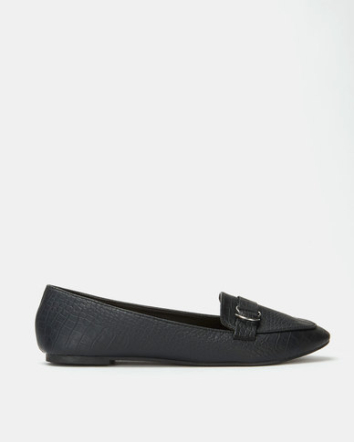 Legit Loafer With Overlay And D Ring Detail Black