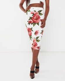Legit Floral Pencil Skirt Floral Multi