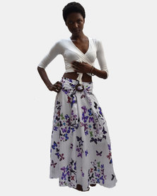SKA Butterfly Coconut Belt Skirt Purple