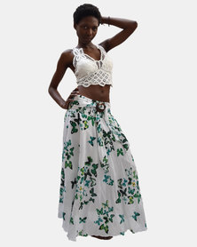 SKA Butterfly Coconut Belt Skirt Green