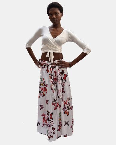 SKA Butterfly Coconut Belt Skirt Red
