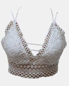 SKA Design Lace V Bras White