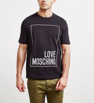 Love Moschino Men's Short T-shirt 47323LE1811 Black