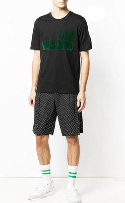 Love Moschino Men's Short T-shirt 47323HM3876-A00 Black