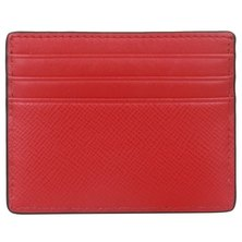 Michael Kors Unisex Leather Card Holder 39F6LHRD2L ROUGE RED
