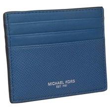 Michael Kors Unisex Leather Card Holder 39F6LHRD2L SEA BLUE