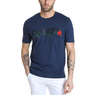Love Moschino Men's Short T-shirt M4732 3J M3876 C74 Blue