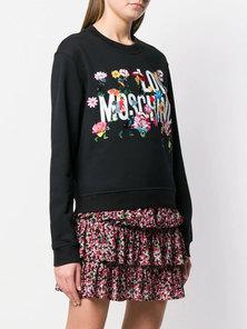 Love Moschino   FUN GARDEN Series Cotton Sports Shirt W630622M4055   Black