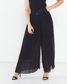 Utopia Pleated Wide Leg Pants Black