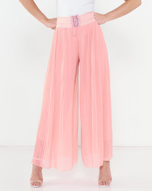 Utopia Pleated Wide Leg Pants Pink