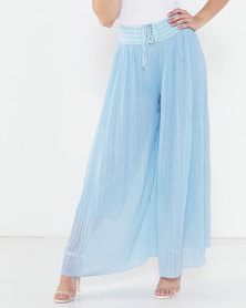 Utopia Pleated Wide Leg Pants Blue Sky