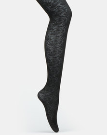 Falke Ladies Fan Lace Tights Black